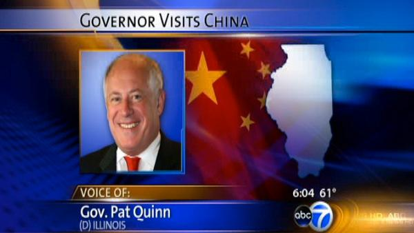 Gov. Quinn talks to ABC7 from China