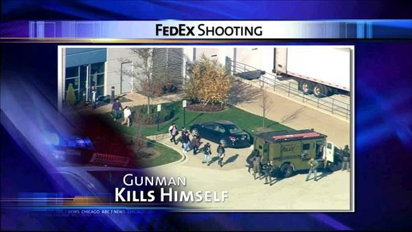 Gunman kills himself at FedEx warehouse in Bedford Park