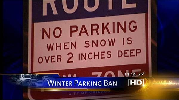Winter parking ban begins at 3 a.m.
