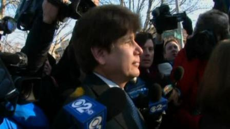 Former governor Rod Blagojevich leaves his Ravenswood home and heads to court on December 7, 2011 to be sentenced by Judge James Zagel.