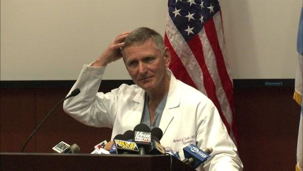 Doctor updates media on Sen. Kirk's status