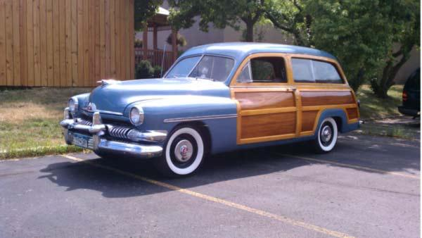 Ed Meurer, Jr. and his 1951 Mercury Woody Station Wagon