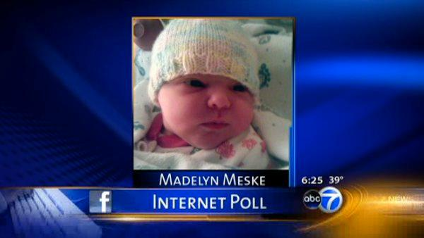 Facebook users help suburban couple name newborn