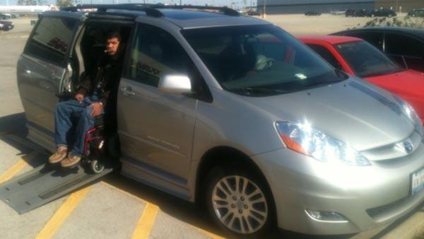 Eddie Lopez and his 2008 Toyota Sienna Braun Rampvan