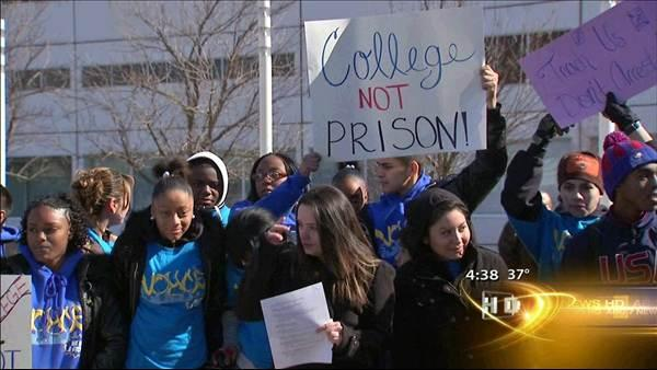 CPS students protest disciplinary actions