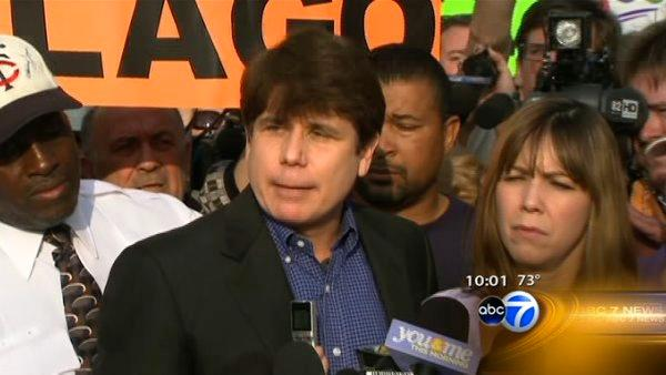 Blago says goodbye before crowd of well-wishers