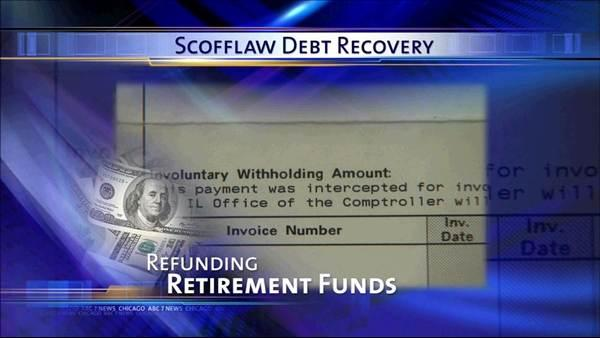 Ill. to refund debt recovered from retirement funds