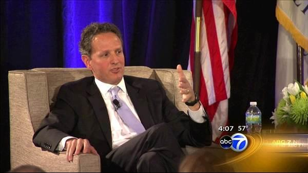 Geithner highlights signs of strength in US economy