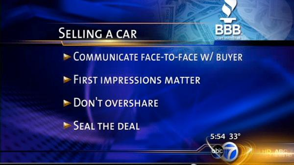 BBB: Selling Your Car, Moving Scam Advice
