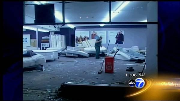 Woman crashes into Skokie bedding store