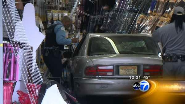 Car crashes into beauty supply store, 1 injured
