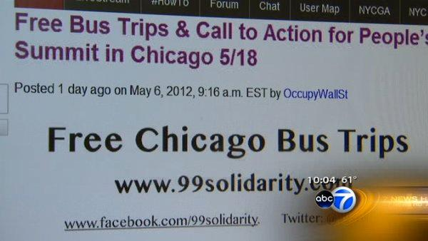 Occupy offshoot to bus protesters to Chicago