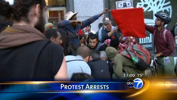 Charges filed after protest nears Mag Mile