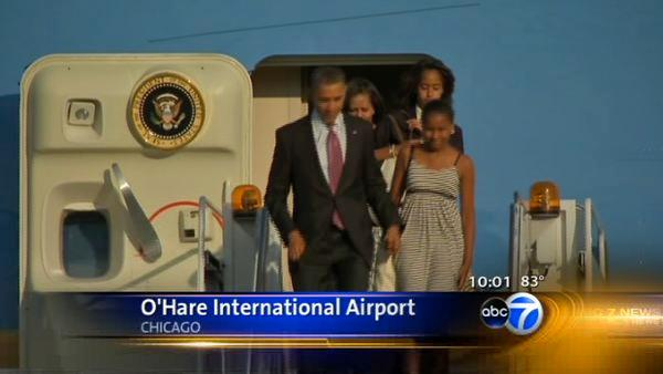 Obamas in town for weekend wedding