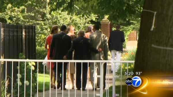 Obama family home in Chicago for family event