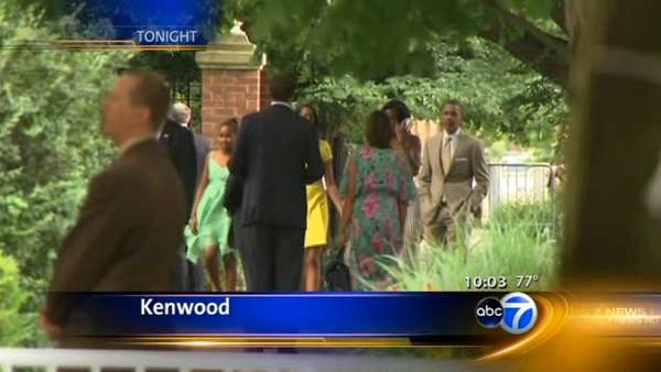 Obama attend wedding in Kenwood