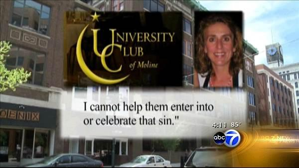 Moline club manager refuses to host gay couple's wedding