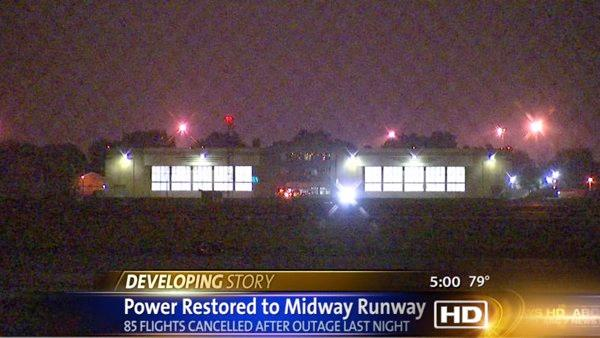 Midway power outage cancels, diverts 85 flights