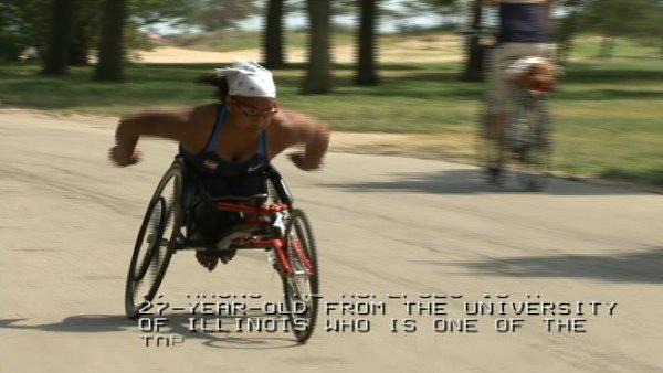 Wheelchair racer has eyes on London