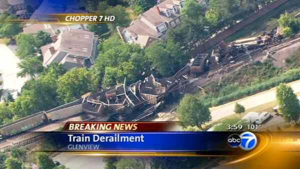 No injuries in train derailment, bridge collapse