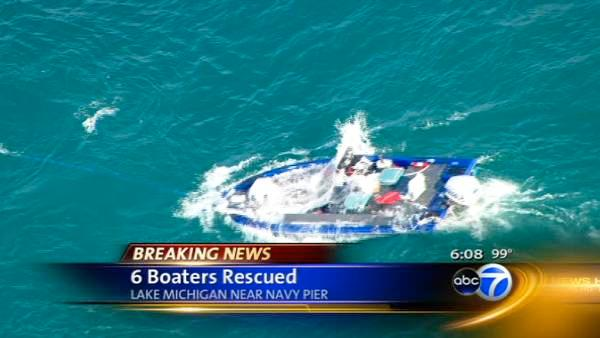 6 rescued from sinking boat