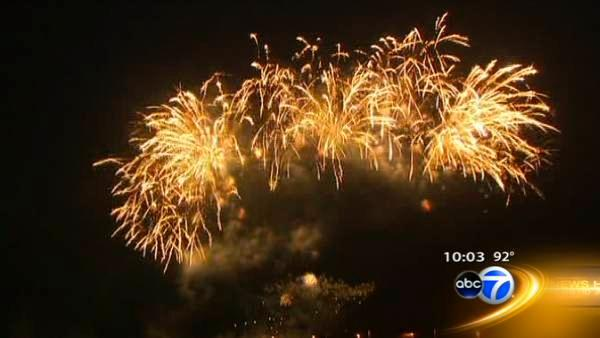 Fireworks punctuate hot holiday