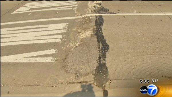 Heat buckles pavement, slows Metra trains