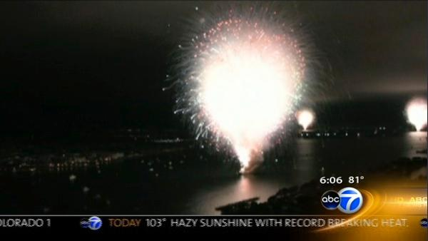 San Diego fireworks show lasts 30 seconds