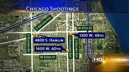 Three people have been killed and seven others injured in shootings in Chicago since July 4th.