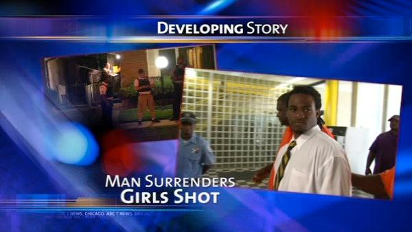 Suspect in shooting of 2 young girls turns himself in