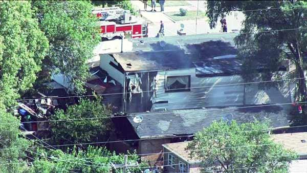 The Chicago Fire Department is looking for the cause of an explosion and fire at 90th and Normal. It happened Monday morning, July 23, 2012.