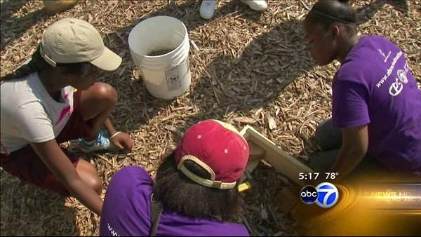 City high schoolers tend garden over summer break