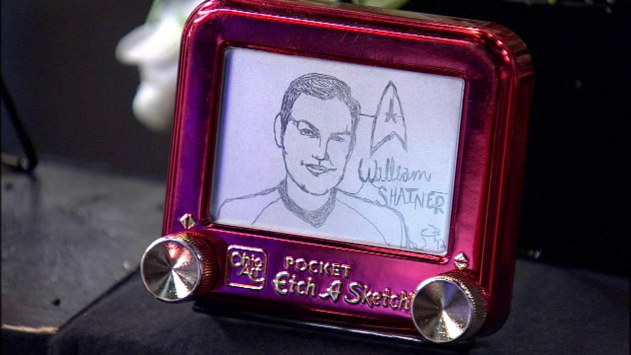 Artist Christoph Browns Etch-A-Sketch rendering of William Shatner. Brown has been a professional artist since the age of 16. He found his calling by using the unusual medium.