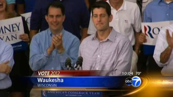 Romney, Ryan rally in Wisconsin