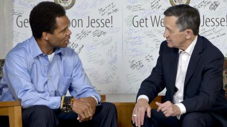 Rep. Jesse Jackson Jr. received a visitor from Capitol Hill over the weekend: Former presidential candidate Rep. Dennis Kucinich stopped by the Mayo Clinic to show his support.
