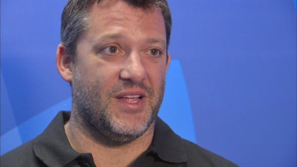 Tony Stewart talks to ABC7's Jim Rose
