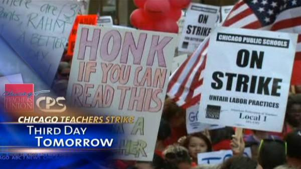 No deal on teachers contract; strike going into 3rd day