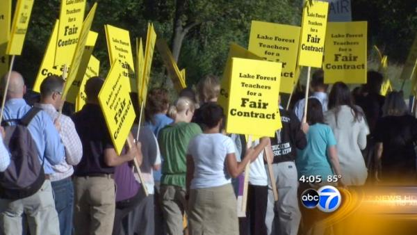 Lake Forest High School teachers go on strike