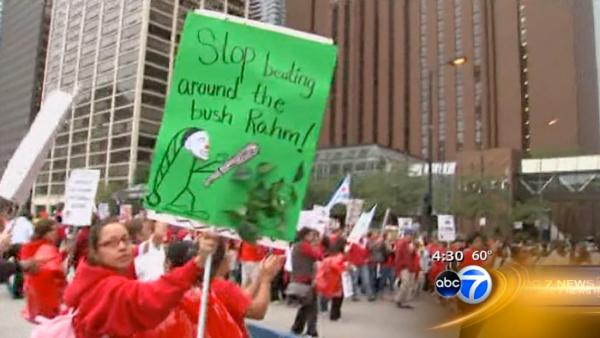 VIDEO: Teachers rally downtown for 4th day