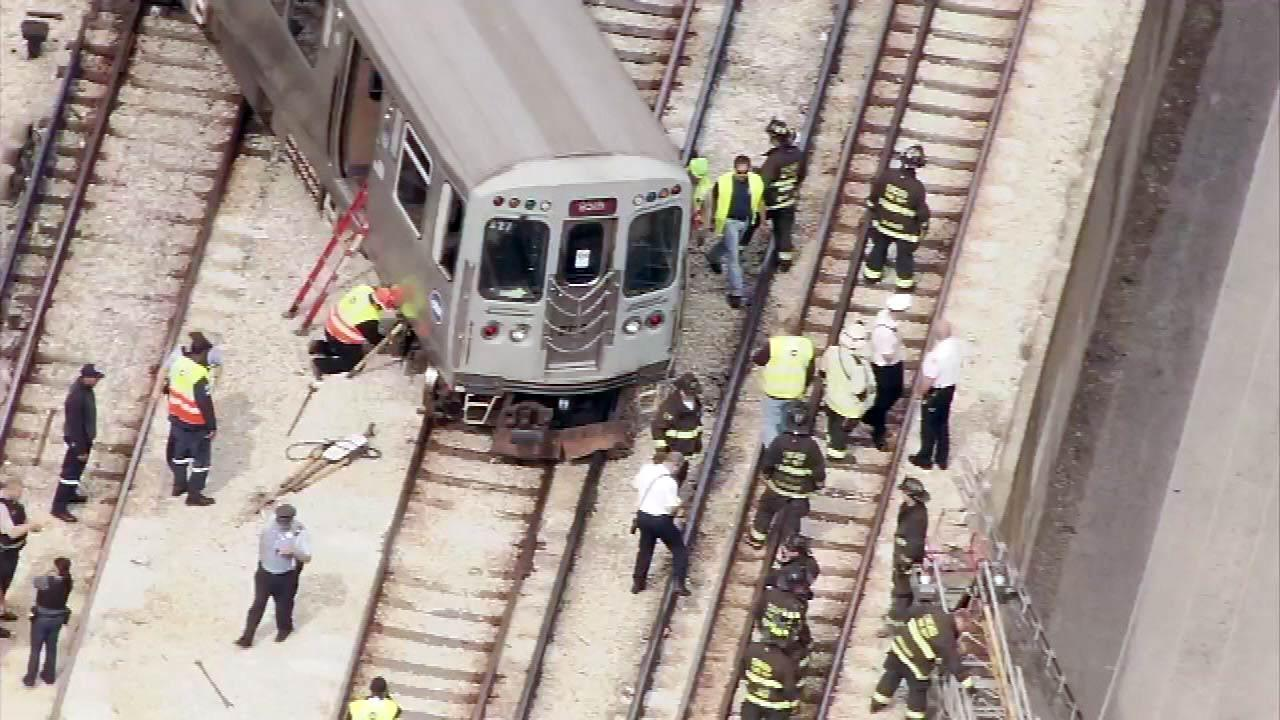 CTA Red Line trains were stopped in both directions between Belmont and Howard following a derailment near the Granville station, Monday, October 1, 2012. <b><a hrefhttp://abclocal.go.com/wls/story?sectionnews/local&id8831383>READ MORE.</a></b>