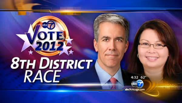 Duckworth, Walsh go after voters at same event