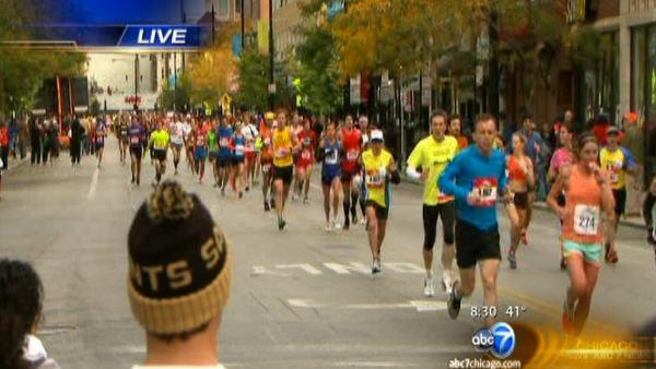 Chicago Marathon under way