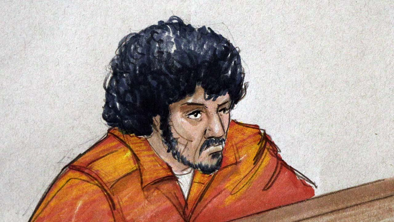 In this file courtroom sketch, Adel Daoud, 19, of suburban Chicago, appears before a judge at federal court in Chicago.  (AP Photo/Tom Gianni, File)