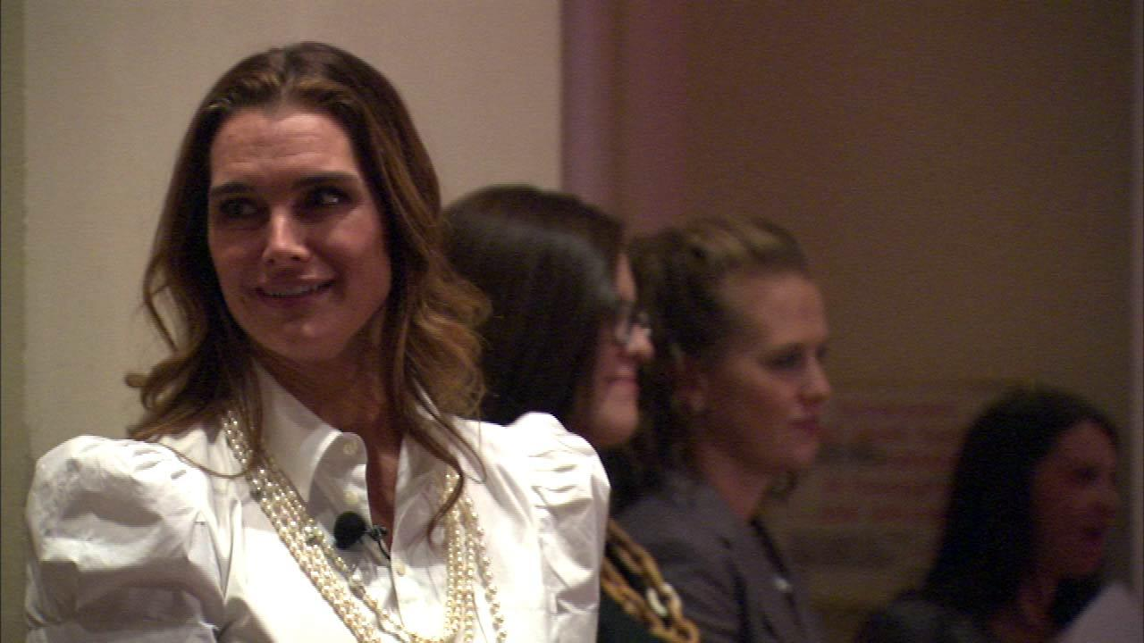 Actress Brooke Shields was a guest speaker Wednesday, October 17, 2012, for the Lynn Sage Cancer Research Foundation annual fall benefit.