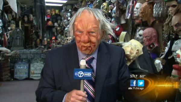 Halloween masks flying off shelves at Chicago costume shop