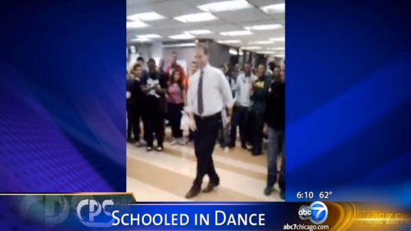 Dean battles student in high school danceoff
