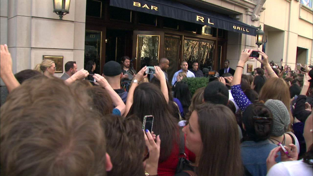 Bieber was interviewed by Oprah Winfrey at RL Restaurant on Michigan Avenue. It will air on OWN networks Oprahs Next Chapter.