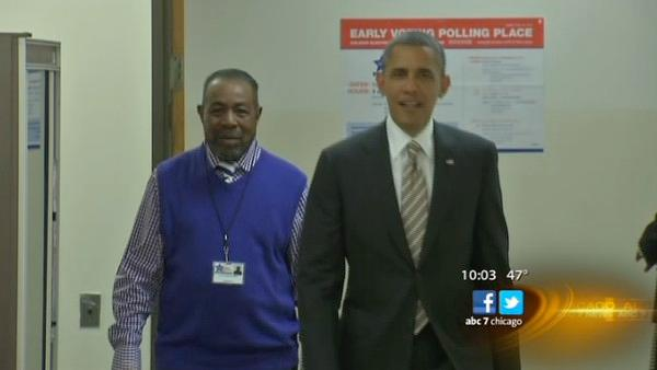 President Obama votes, visits campaign office