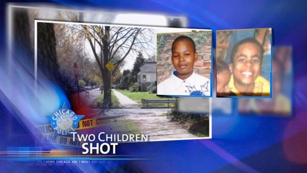 2 children shot while playing football