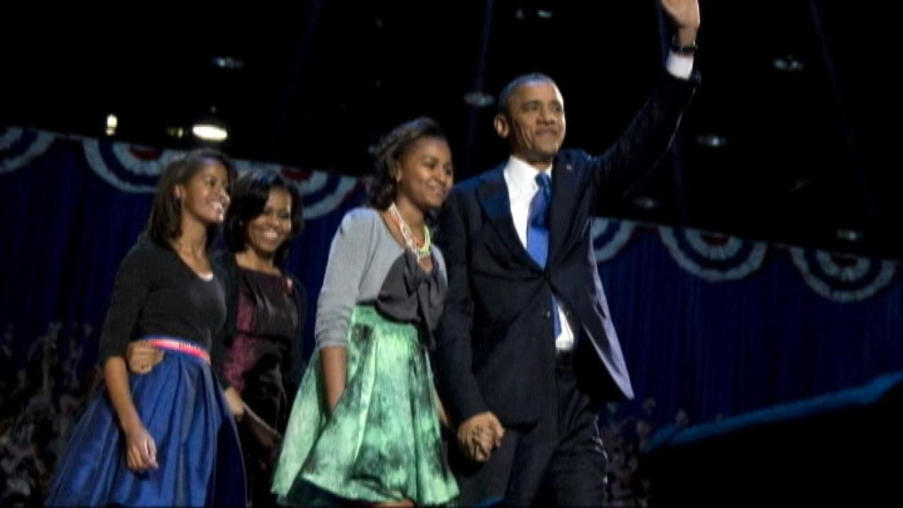 The First Family seen on Election Night 2012.